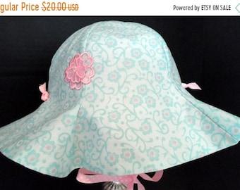 SPRING SALE Sun Hat, Reversible Sun Hat, Baby Sun Hat, Girls hats, Toddler Sun Hat, Girls Clothing, Handmade