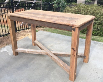 Rustic/Reclaimed Wood Pub/Bar Height Table