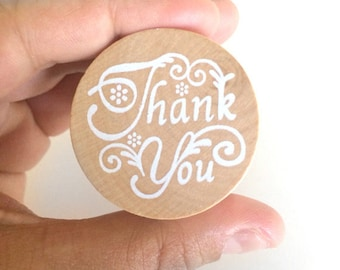 thank you rubber stamp - stationery stamp - wedding thank you stamp - wooden stamp - cardmaking stamp - scrapbooking stamp - packaging stamp