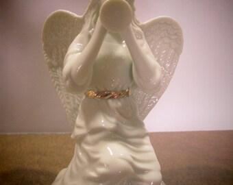 LENOX ANGEL w/HORN, Lenox Angel, Kneelng Lenox Angel