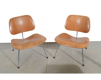 Eames LCM Lounge Chairs Molded Wood Herman Miller