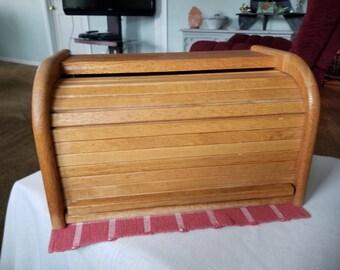 Breadbox, Wooden Rolltop