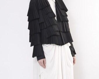 Asymmetric black jackets / Black designer jacket / Black classic jacket / Avant garde jacket / Avant garde clothing