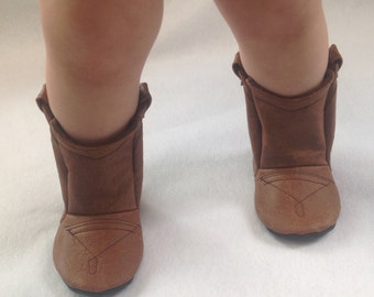Ostrich Leather Baby Cowboy Boots   Newborn size up to 24 Months