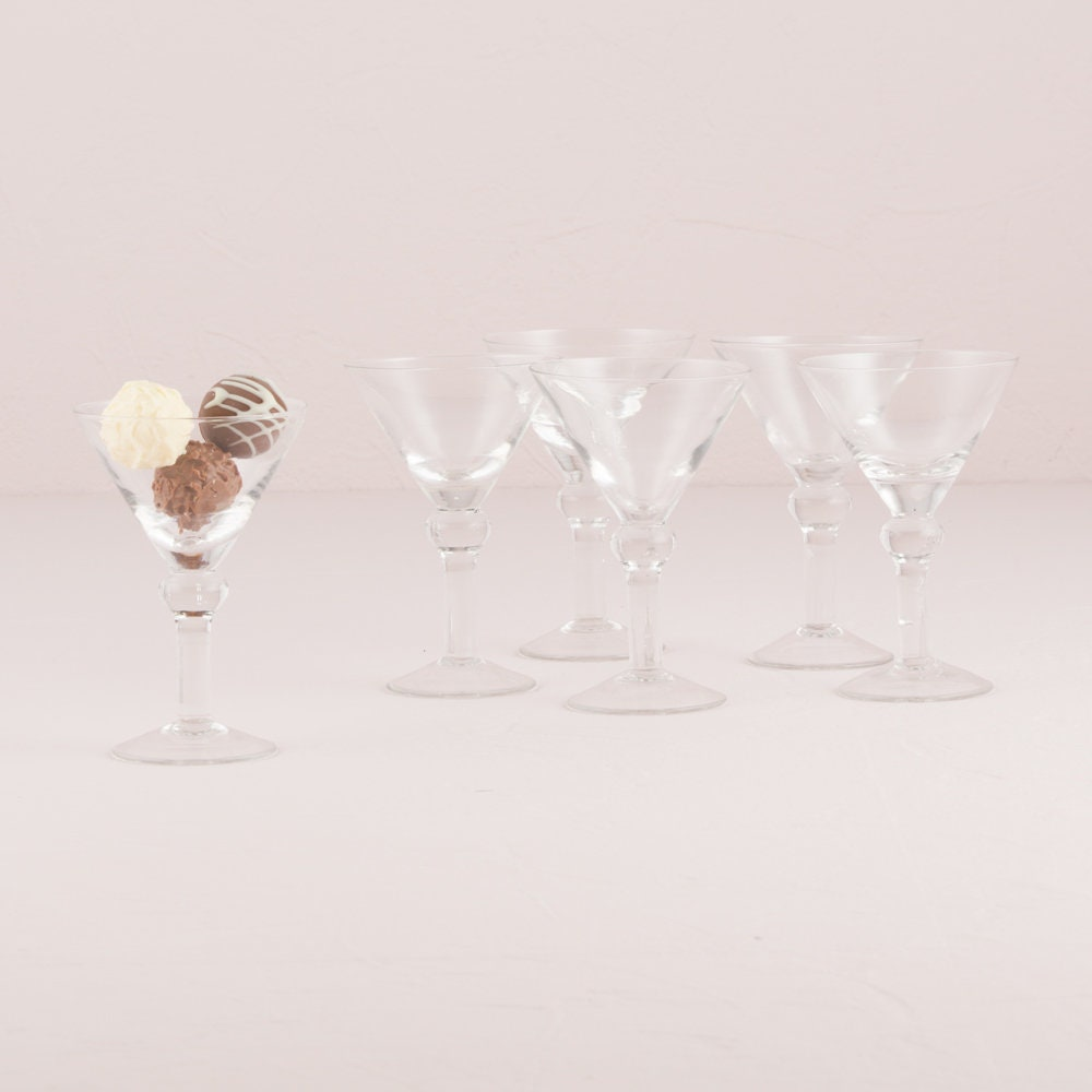 6 Mini Martini Wedding Favor Glasses, Wedding Favor Glasses, Wedding ...