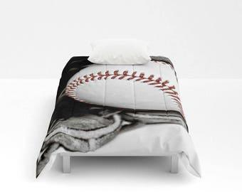 Baseball Comforter-Baseball Bedding-Bed Comforter-Baseball Decor-Twin Comforter-Sports Bedding-Boy Bedding-Sports Bedroom Decor-Dorm Bedding