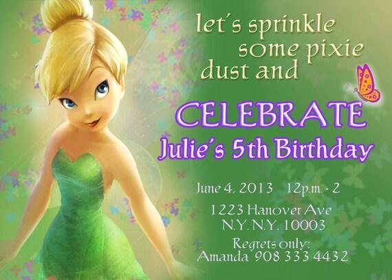 Tinkerbell invitations fairy invitations pixie fairy