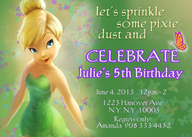 Tinkerbell invitations fairy invitations pixie fairy zoom bookmarktalkfo Choice Image