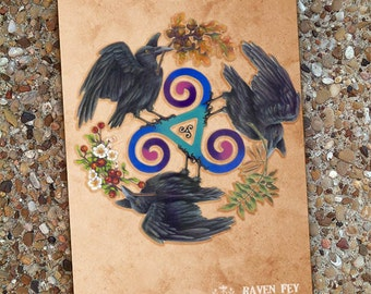 Raven Fey Blank Book Journal
