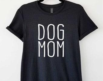Dog Mom on Adult Crewneck Tri-blend Tee