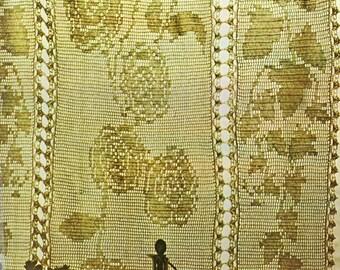 Filet Crochet Pattern, Crochet Curtain Pattern, Thread Crochet Pattern, INSTANT Download Pattern PDF (1037)