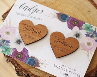 Wedding badge - witnesses hearts