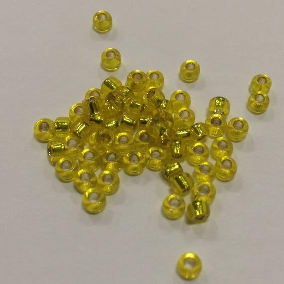 Size 8 Miyuki Seed Bead Silverlined Yellow 15g