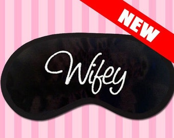Wifey - Embroidered Black Eye Mask - favorite on pinterest tumblr instagram polyvore