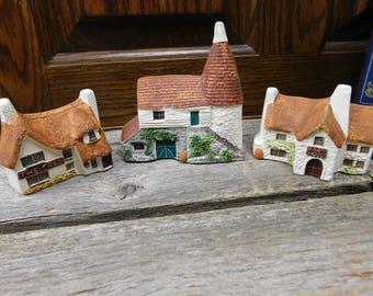 Set of 3 Vintage Philip Laureston UK English Cottages