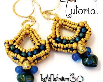 TUTORIAL Victorian Parlour Earrings with Beaded Prismatic Right Angle Weave PRAW