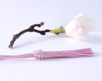 Morocco 9 cm silk tassel / Moroccan Silk Tassel - light pink color (PAM17)