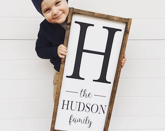 Last Name Sign | Family Name Sign | Custom Wood Sign | Farmhouse Name Sign | Gallery Wall Sign | Entryway Wall Decor