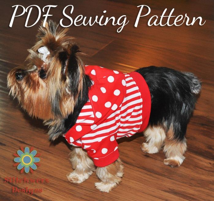 DOG TEE PATTERN, Dog Shirt Pattern, Dog Hoodie Pattern, Small Dog ...