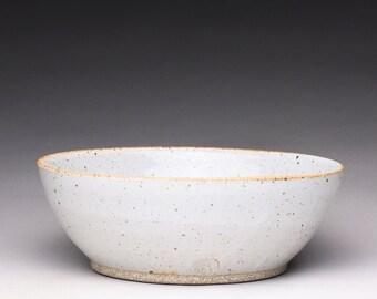 ceramic serving bowl, handmade bowl, white pottery bowl