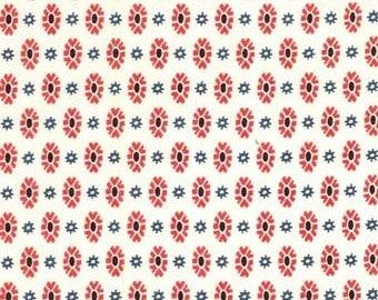 Cash by Michael Miller Fabrics, bandana print fabric, western fabric, cowboy equestrian fabric by the yard, cream red black gray cotton