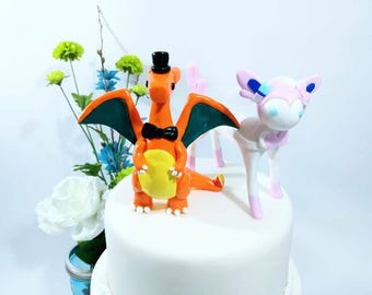 Any Pokemon Wedding Cake Toppers - Custom Wedding Cake Topper - Wedding - Party - Cake - Keepsake - Large