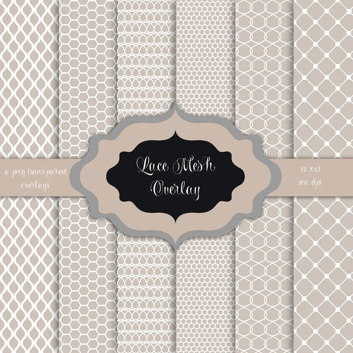 LACE Mesh Overlays Digital Clip Art Vintage Lace Pattern