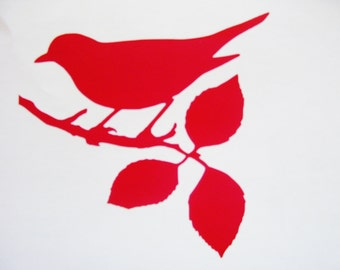 Bird on a branch decal, car decal, laptop decal, wall decal
