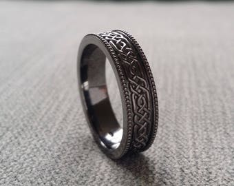 Mens Sterling Silver Wide Band Rings