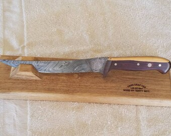 Custom handmade Damascus and Cocus wood fillet knife bt Beyl
