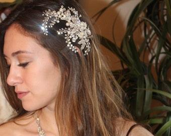 Crystal wedding hair comb, pearl bridal comb, wedding hair comb, pearl hair clip,  wedding hair clip, bridal hair clip, wedding clip,