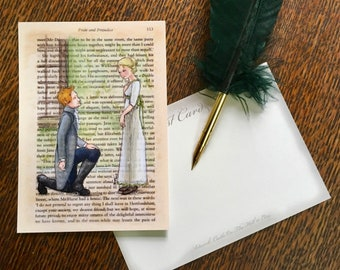 Jane Austen Art Postcards - Austen Couples - Jane and Mr Bingley