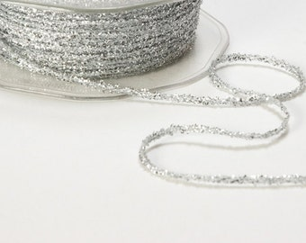 TWINE, Tinsel Metallic String Ribbon, METALLIC SILVER