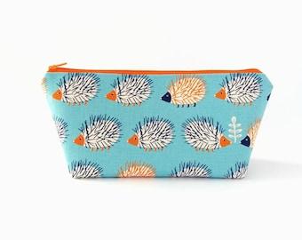 Pencil case, Cute pencil bag, Pencil zipper case, Pencil pouch, Cute school supplies, Hedgehogs, School pouch Back to school Childrens gifts