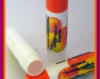 LIP BALM  - All Natural - Mango - Lip Gloss - Free U.S. Shipping