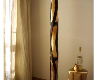 Floor Lamp, Bamboo Floor Lamp, Wood Floor Lamp, Standing Lamp, Bamboo Lamp, Dad Gift, Yoga Lamp, Home Light, Designer Floor Lamp