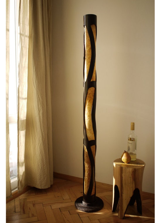 at for pamono sale wood entwined wooden floor lamp