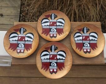 Set of 4 Annemarie Davidson Thunderbird Coasters