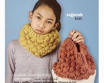 Bubble Cowl Knitting / Cowl Kids / Knitting For Kids