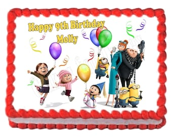 Despicable Me party decoration edible cake image cake topper frosting sheet
