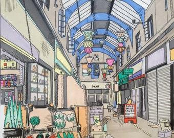 SALE A3 fine art giclee print of Brixton village