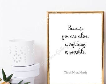 Thich Nhat Hanh Quote, Thich Nhat Hanh Print, PRINTABLE Poster, Nursery Wall Art, New Baby Gift, Motivational Quote, Inspirational Wall Art