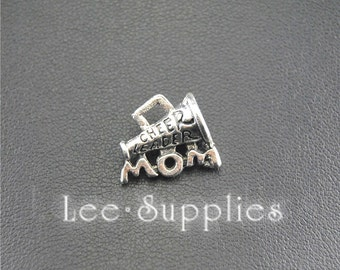 30pcs Antique Silver Cheerleader Mom Charms Pendant, DIY Jewelry Findings A1443