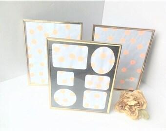 Vintage Brass Photo Frames / Brass Photo Frames / Vintage Picture Frames / Gold Picture Frames / Lot of Picture Frames