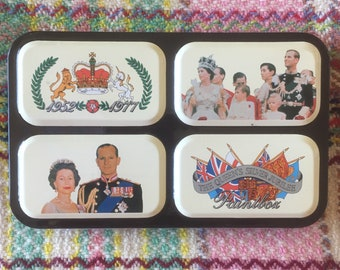 "Commemorative Unused Vintage 1977 Boxed ""The Queen's Silver Jubilee"" Reeves Watercolour Paintbox Tin"