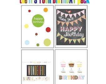 Birthday Card Pack Birthday Greeting Cards Happy Birthday Cards Hip Birthday Cards Cute Birthday Cards Birthday Cards for Her Birthday Cards