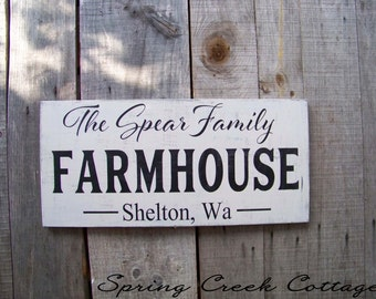 Modern Rustic Signs, Personalized Signs, Wedding Gifts, Established Signs, Name Signs, Farmhouse Decor, Handpainted, Rustic Signs