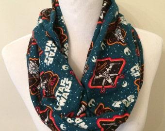 Star Wars Scarf - Star Wars Infinity Scarf - Millennium Falcon Scarf - Geek Scarf - Flannel Scarf