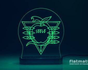 Seele - acrylic lamp with 20 color backlight, gift, light interior design, LED night light, Evangelion, Nerv, Genesis, anime, free shipping