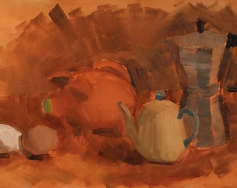 Value Study, or Coffee Pot and Objects